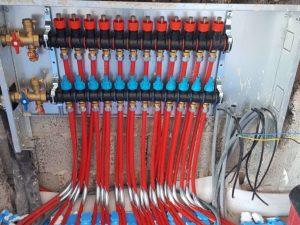 Piso radiante hidráulico tubos