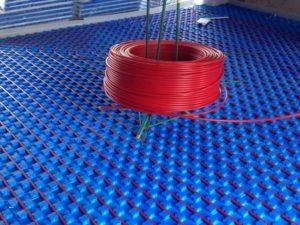 Colocação de piso radiante hidráulico