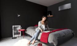 Ar condicionado de parede em quarto
