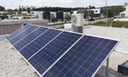 Painéis solares em contexto real