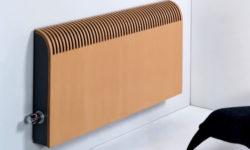Radiador de parede em madeira